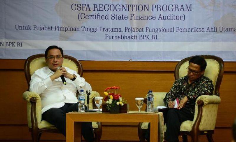 Ketua BPK: Sertifikasi CSFA Dirancang untuk Meningkatkan Kualitas Pemeriksa BPK