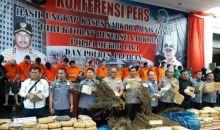 Berantas Narkoba, Polda Metro Jaya Musnahkan 1,3 Ton Ganja dan Ratusan Kilo Narkotika