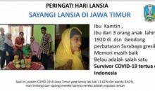 Wouw! Di Surabaya, Nenek Berusia 100 Tahun Sembuh dari COVID-19