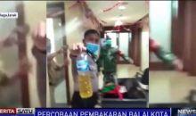 Terpantau CCTV, Seorang Wanita Ancam Bakar Balai Kota Jakarta