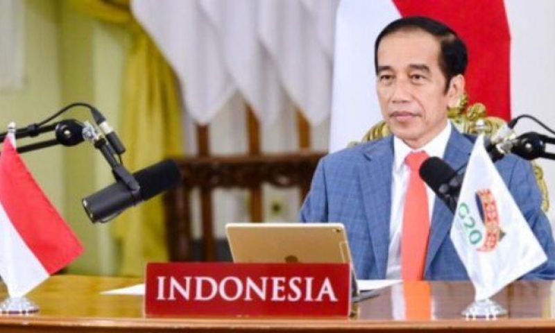 Presiden Jokowi Hadiri KTT G20 secara Virtual