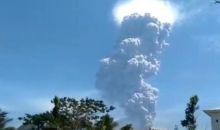 Erupsi Gunung Ili Lewotolok, Lembata Diguyur Hujan Abu dan Kerikil