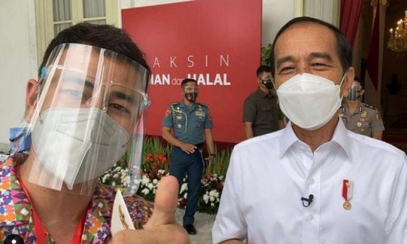 Divaksin Bareng Presiden Jokowi, Raffi Ahmad: Jangan Takut Divaksin