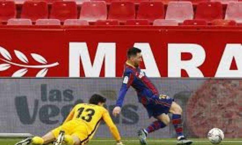 Messi Menangkan Barcelona di Sevilla