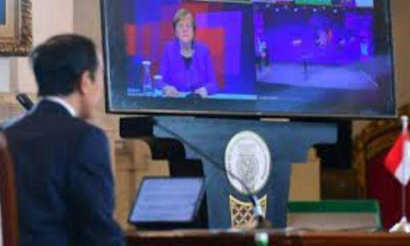 Presiden Jokowi dan Angela Merkel Buka Ajang Hannover Messe 2021 Secara Virtual