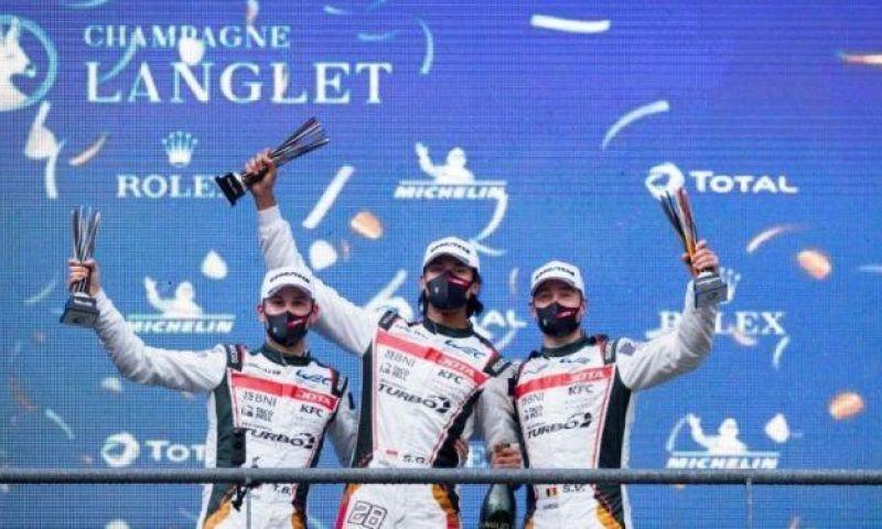 Berkah di Bulan Ramadhan, Sean Gelael Naik Podium Ketiga di FIA WEC Belgia