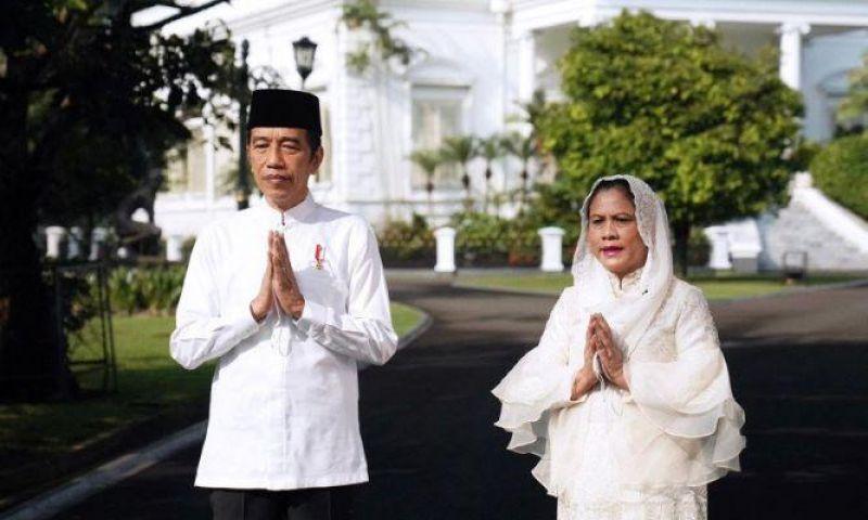 Presiden Jokowi dan Ibu Negara Iriana Ucapkan Selamat Idul Fitri