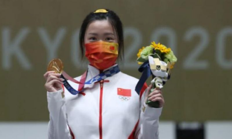 China Raih Emas Pertama Olimpiade Tokyo dari Cabang Menembak