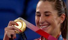 Wanita Swiss Pertama, Belinda Bencic Raih Emas Tunggal Putri Olimpiade Tokyo